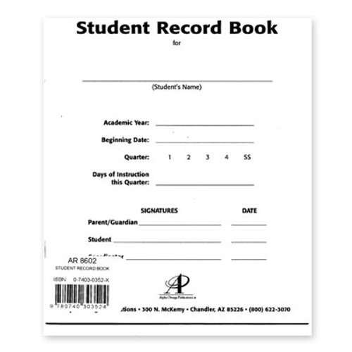 LIFEPAC Student Record Book