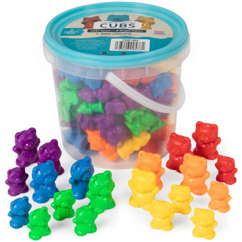 Colorful Counting Cubs, 125-pack