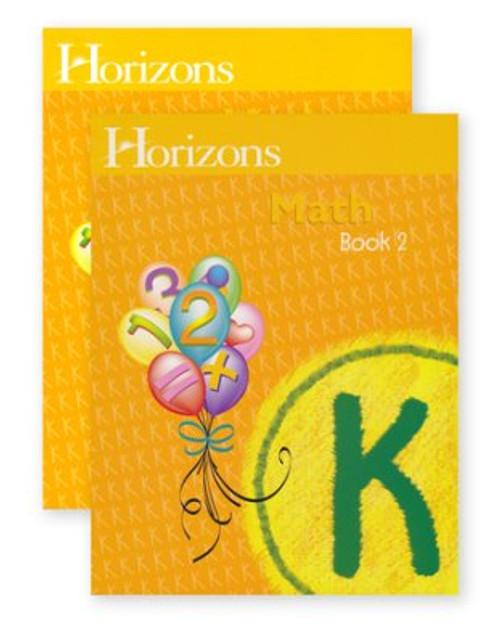 HORIZONS Kindergarten Math Student Books 1 & 2 Set