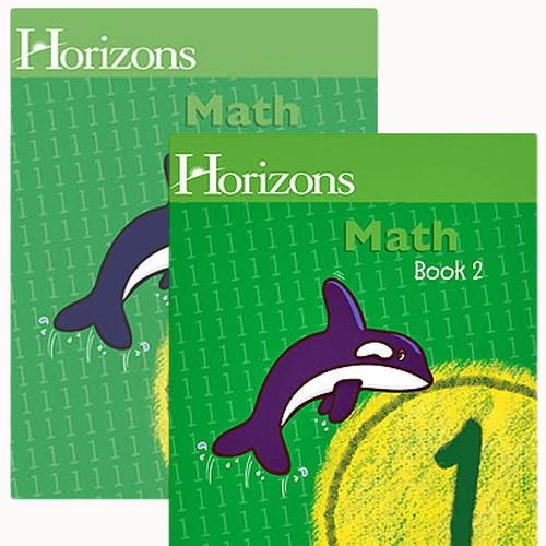 HORIZONS 1st Grade Math Student Books 1 & 2 Set
