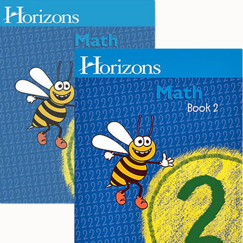 HORIZONS 2nd Grade Math Student Books 1 & 2 Set