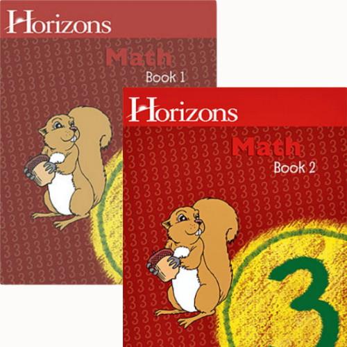 HORIZONS 3rd Grade Math Student Books 1 & 2 Set