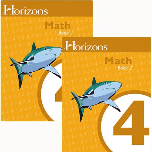HORIZONS 4th Grade Math Student Books 1 & 2 Sets
