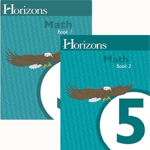 HORIZONS 5th Grade Math Student Books 1 & 2 Set