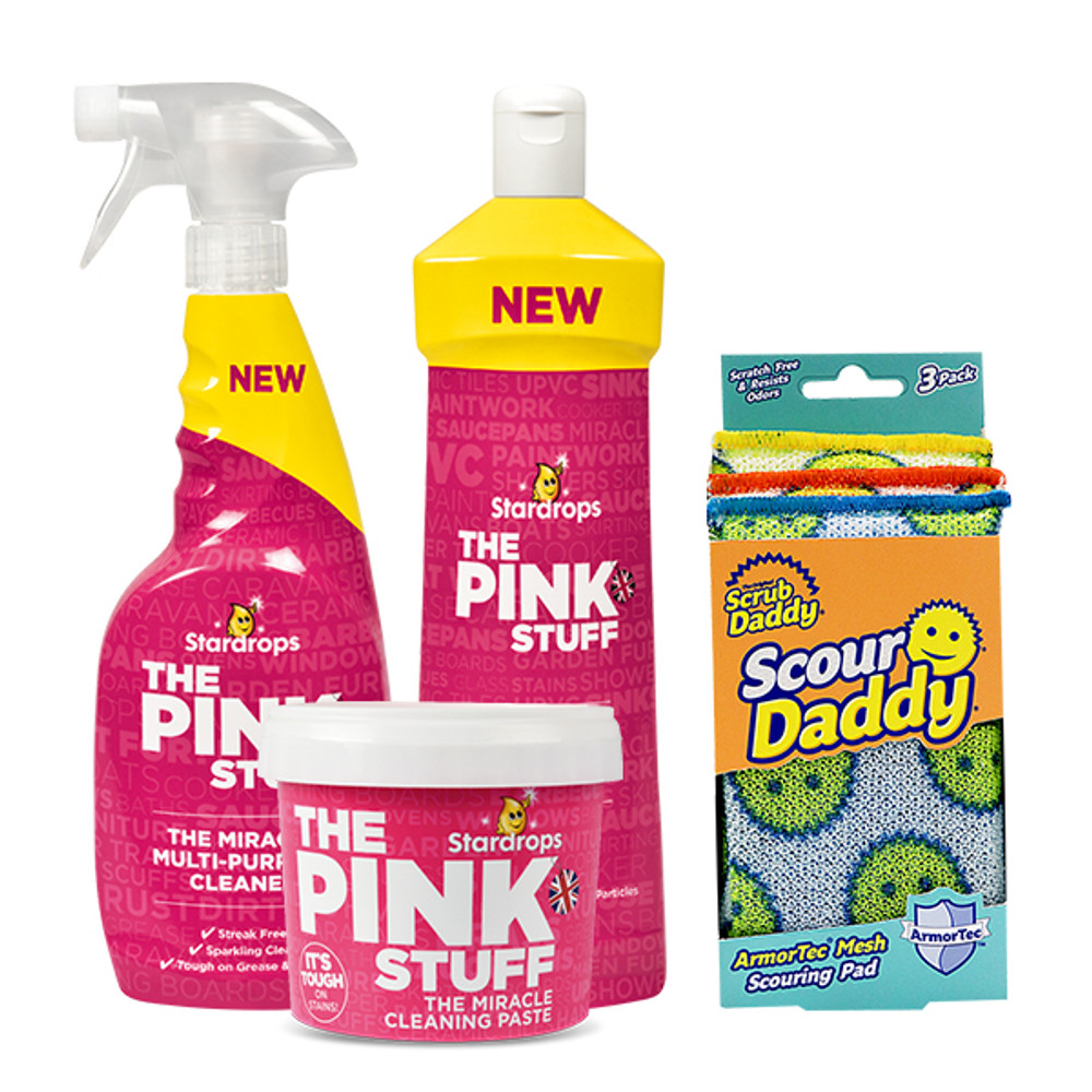 The Pink Stuff 3 Piece Bundle + Scour Daddy (3 Pack)