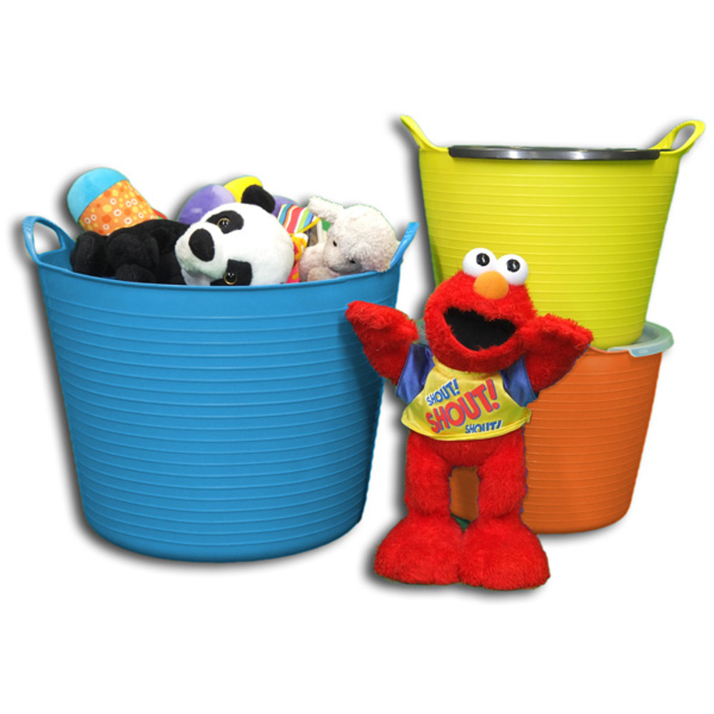 Small Tubtrugs are great for containing all your kids' toys. Add a Small Tubtrugs Lid to make them stackable.