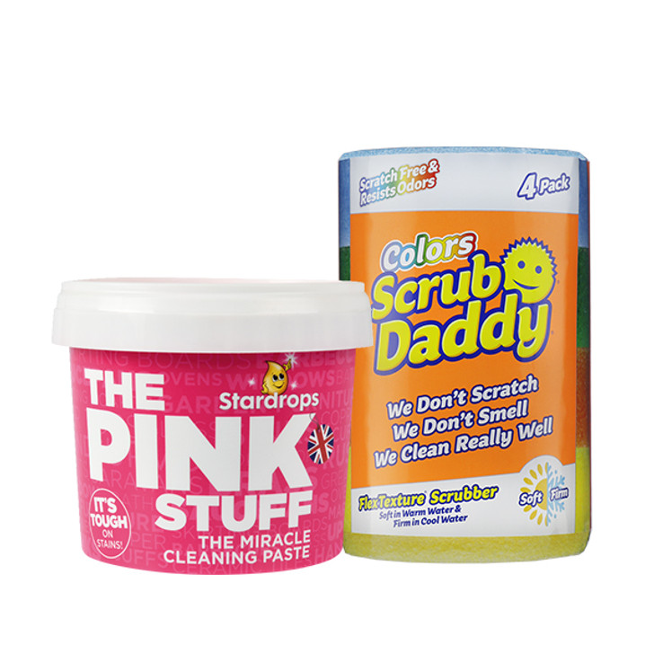 The Pink Stuff + Scrub Daddy (4 Pack)