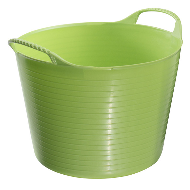Medium Tubtrugs are 26L. They are food grade safe, strong, flexible and colourful.