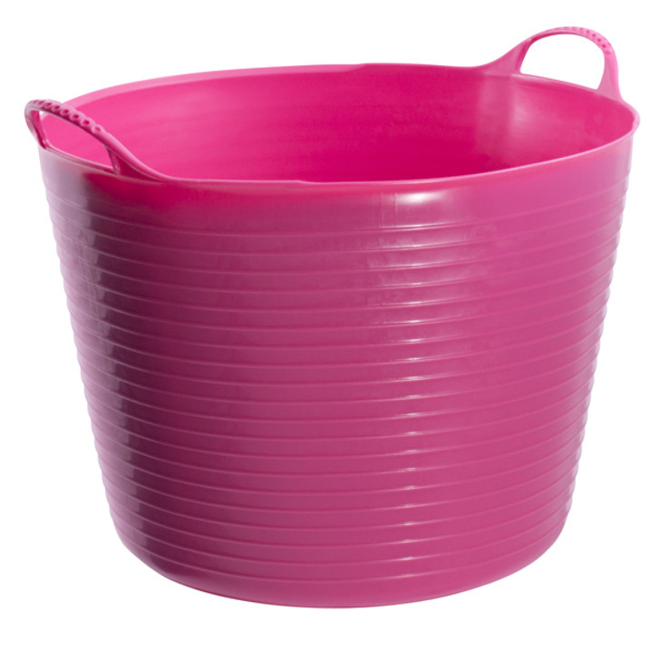 Large Tubtrugs are 38L. They are food grade safe, strong, flexible and colourful.