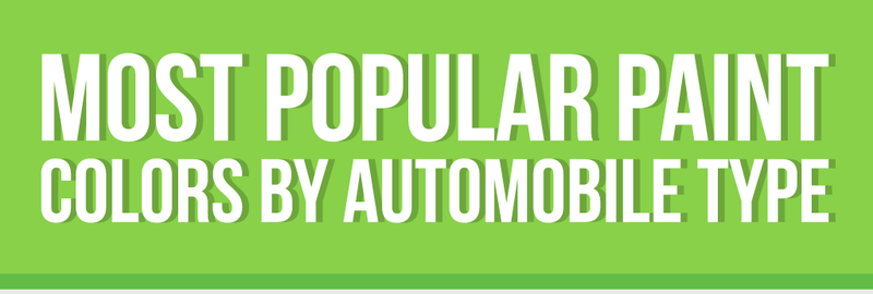 Most Popular Paint Colors by Automobile Type Infographic