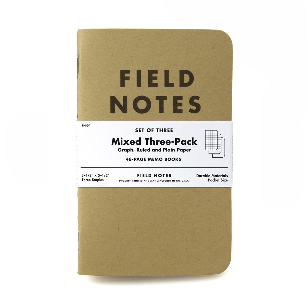 Field Notes Mixed Paper 3-pack