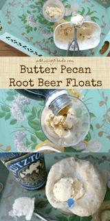 Butter Pecan Root Beer Floats