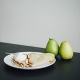 Pear Butter Crepes with Cinnamon Whipped Cream