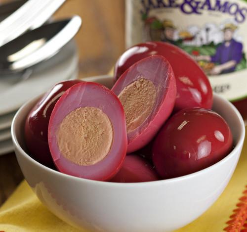 Jake & Amos Red Beet Pickled Eggs, 32 Oz. Jar