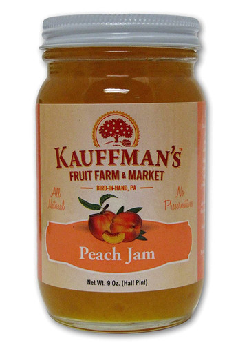 Kauffman Orchards Peach Jam, All Natural with No Preservatives, 9 Oz. (Pack of 3)