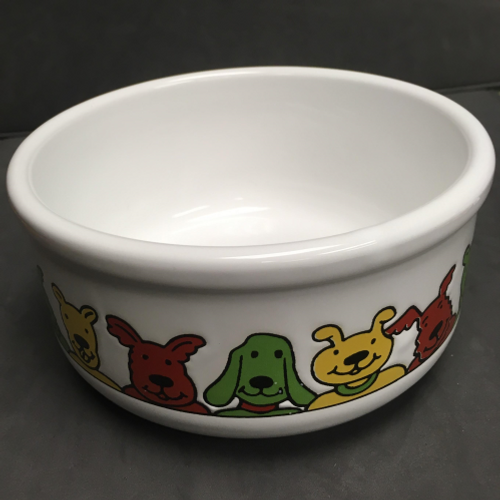 Cartoon Dogs Ceramic Bowl