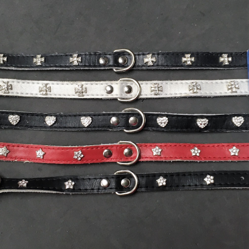 Soft Leather Charm Collars
