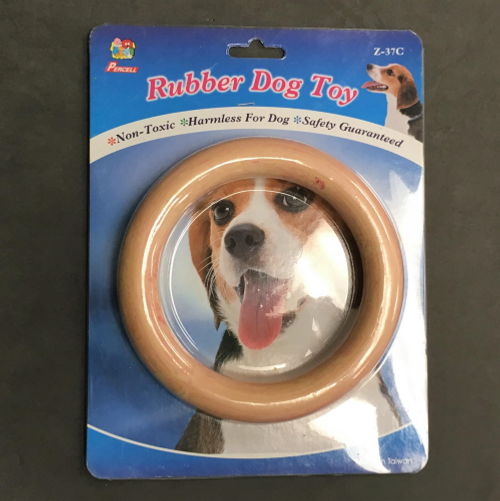 """Solid Rubber Ring Dog Toy 6"""""""