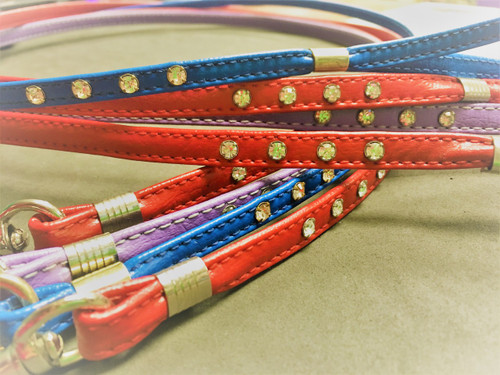 Clear Jewel Leather Leads