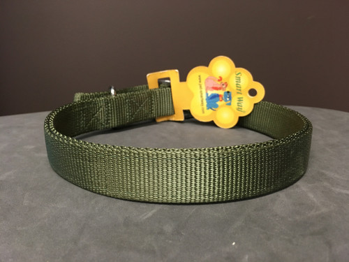 """Double Lined Nylon Collar Army Green 24"""""""