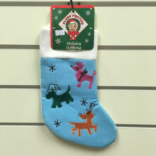 Blue 3 Dogs Stocking