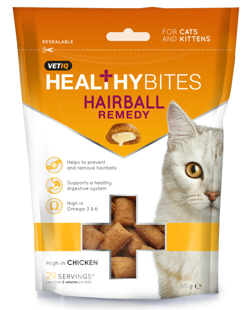 Healthy Bites Hairball Remedy For Cats and Kittens 65g