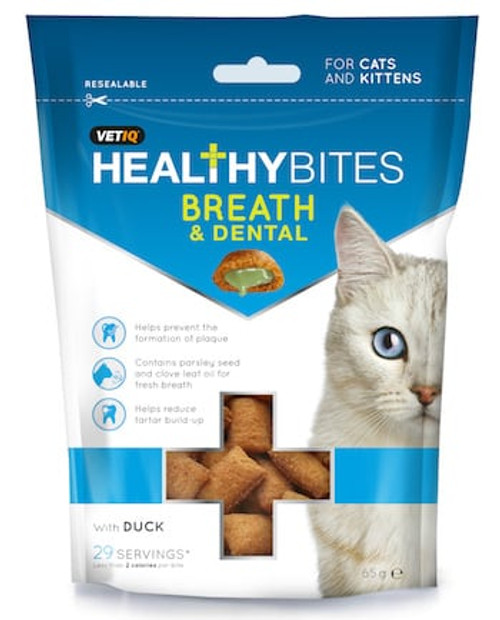 Healthy Bites Breath & Dental For Cats & Kittens 65g