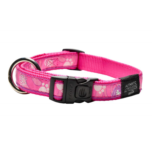 Rogz Fancy Dress Collar Pink Paws