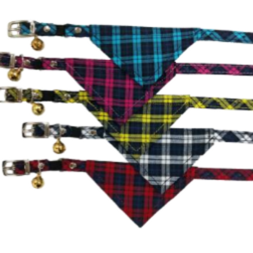 Checkered Bandanna Safety Collars for Kittens