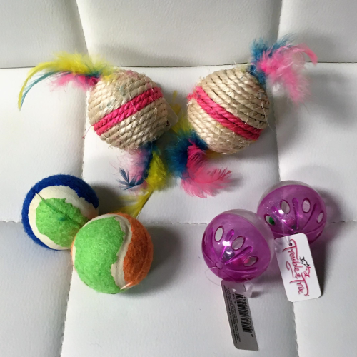 Assorted Rattle Ball Cat Toys