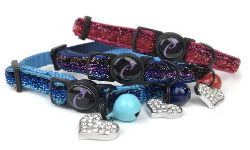 Cattitude Sparkle Safety Collar for Cats