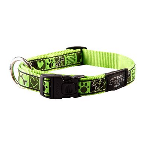 Rogz Fancy Dress Collar Lime Juice