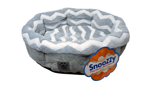 SnooZZy Zig Zag Shearling Round Bed 53cm