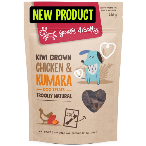 Yours Droolly NZ Chicken & Kumara Treats for Dogs & Puppies