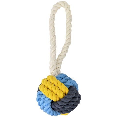Knots of Fun Rope Toy Tug with Ball