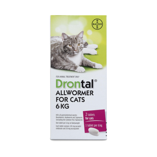 Drontal All Wormer For Cats Ellipsoid 6kg 2pk