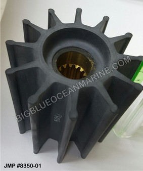 JMP MARINE FLEXIBLE IMPELLER #8350-01 (Actual Impeller Image - 14 splines)