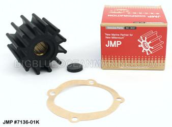 JMP FLEXIBLE IMPELLER KIT #7136-01K (Impeller, End Cap, Gasket)