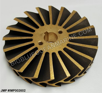 JMP BRONZE IMPELLER #IMP002602 (For CAT #3N7714 (Imp 3N8214), JMP #JPR-CT3408)