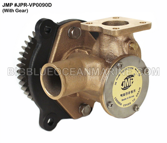 JMP #JPR-VP0090D JMP BRAND VOLVO PENTA REPLACEMENT RAW WATER ENGINE COOLING PUMP (PUMP WITH GEAR)