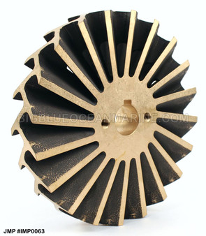 JMP Marine Caterpillar Replacement Bronze Impeller #IMP0063 Replaces CAT 5N2618. For pump(s): JPR-CT3508, 7C3614, Gilkes 44953-054