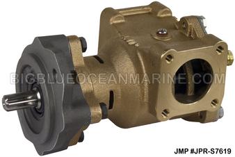 #JPR-S7619 JMP MARINE JOHN DEERE REPLACEMENT ENGINE COOLING PUMP SEAWATER / RAW WATER PUMP. Replacement for John Deere RE45458, Sherwood P1719