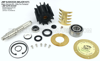JSK0028 Major Service Kit for JMP Marine Engine Cooling Pump #JPR-SC50IF