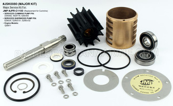 #JSK0080 JMP Marine Cummins & John Deere Engine Cooling Seawater Pump Major Service Parts Kit. Replaces Kit Cummins 4930629, John Deere DZ108626, Sherwood 25045