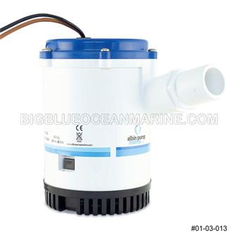 Albin Pump Marine Heavy Duty Bilge Pump 2250 GPH 12V #01-03-013