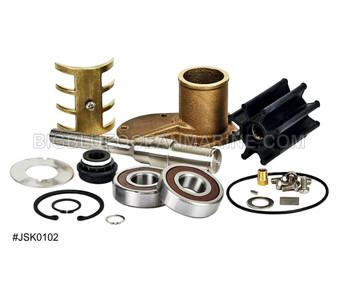 #JSK0102 JMP Marine Volvo Penta Engine Cooling Seawater Pump Major Service Parts Kit Services JPR-VP0060DA, Volvo Penta 21380890, 3589907, Jabsco 50394-8300