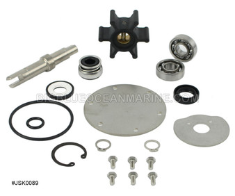 JSK0089 JMP Marine Westerbeke Engine Cooling Seawater Pump Major Service Kit Services JPR-WB08IP