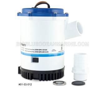 #01-03-012 Albin Pump Marine Submersible Heavy Duty Bilge Pump 1750 GPH 24V Replaces Rule 1500, Johnson 16084-00, 32-1600-02