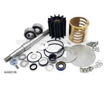 JSK0139 JMP Marine Caterpillar C18 Engine Cooling Seawater Pump Major Service Parts Kit Replaces Sherwood 25147 Services Pump(s) JPR-CT1800R, Caterpillar 3754703, Sherwood G2902X, G2902-01
