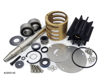 #JSK0140 JMP Marine Caterpillar C32 Engine Cooling Seawater Pump Major Service Kit Replaces Caterpillar 3047616, Sherwood 25154 Services pump(s) JPR-CT3200R, Caterpillar 3228594, Sherwood G3001X